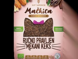 Organski Keks Mackica Kakao Badem 45g