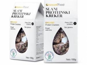 Organski Slani Proteinski Kreker 100g