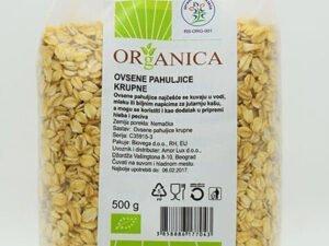 Organske Ovsene Pahuljice Krupne Organica 500g