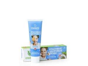 Synergetic Ekološka Pasta za Zube Bez Fluora Intenzivno Izbeljivanje Kokos i Menta 100g