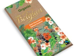 Organska Crna Čokolada i Slani Karamel Belgian 90g