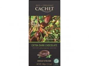 Organska Crna Čokolada 85% Cachet 100g